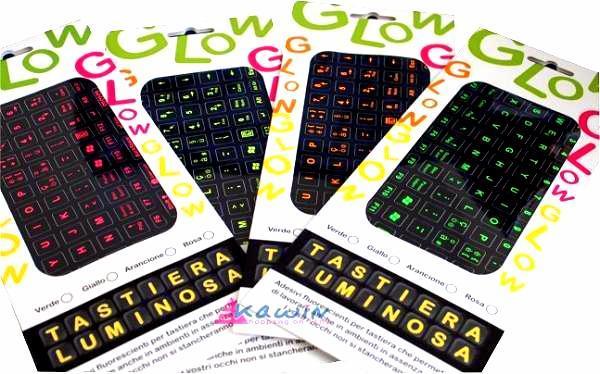 Adesivi fluorescenti per tastiera del computer pc ebay for Adesivi computer