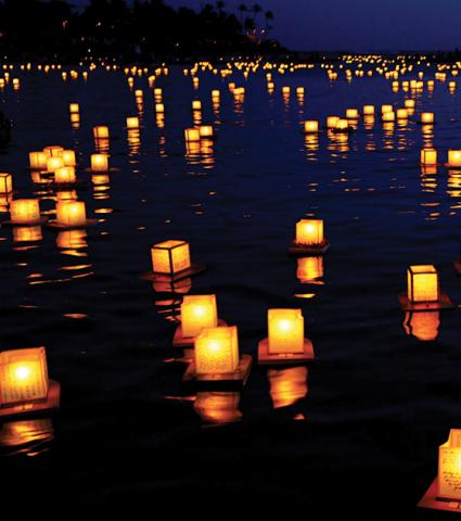 floating lanterns cube