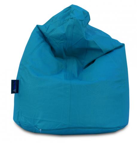 pouf pera ecopelle azzurro puuf puff
