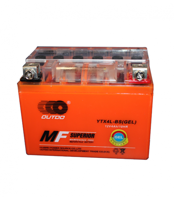 batteria 4 ah quad atv 4 tempi 50cc 70cc 110cc