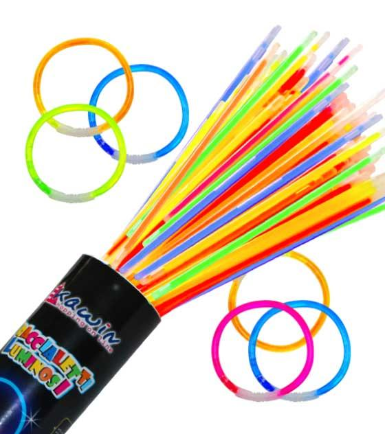 braccialetti luminosi starlight glowstick discount dj party