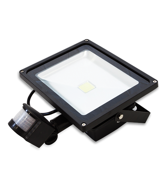 FARETTO LED FLOOD LIGHT 10 W CON SENSORE